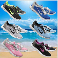Free Shipping Running Womens Shoes Lace Up Athletic Trainers Girls Sneakers Size