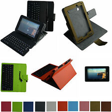 """Rotary Case+Removable USB Keyboard+Film for 7"""" Verizon Ellipsis 7 4g LTE Tablet"""