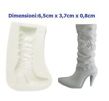 STAMPO IN SILICONE STIVALETTO FASHION MODA TACCO ALTO.MOLD.MOULD.DIY.FAI DA TE