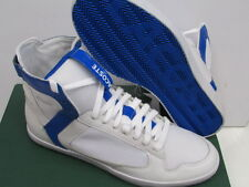 CLEARANCE - Lacoste PipeLiner Spm Mens Hi Top Trainers - White / Blue - UK 9