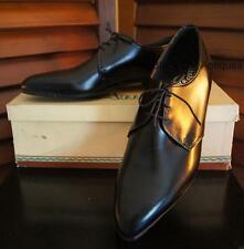 Orig Vintage Ritchie Amigos Lace-Up Pointed Toe Dress Shoes Black Leather NIB