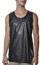 Switch Alligator Wild Animal Print Faux Leather Hip Hop Fashion Apparel Tank Top