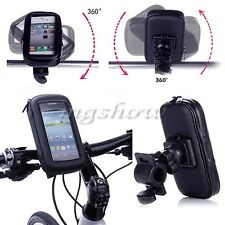 Motor Bike Bicycle Waterproof Case Bag Pouch Handle Bar For Mobile Smart Phone