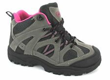LADIES HIKING TRAINER HIGH TOPS TRAIL WALKING ANKLE WOMANS BOOTS GREY PINK SIZE