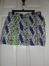 Emerald 18 NEW Animal Print Golf Skort Petite Size 14P MSRP $58.00