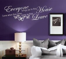 House brings Joy and Love Wall Art Quotes Stickers Murals Decals Vinyl transfers