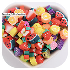 NEW Mixed Colour Polymer Fimo Clay FRUIT Beads - 10MM - JEWELLERY FINDINGS