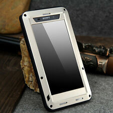 For Sony Experia  Z2 LoveMei Shockproof Aluminum Gorilla Metal Case Cover