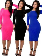 Bodycon Celeb Inspired Kim K Long Sleeves Prom Party Cocktail Sheath Dresses