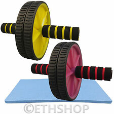 WHEEL ROLLER SLIM TRIM TONE EXERCISE FITNESS GYM MUSCLE ARMS WAIST BELLY WORKOUT