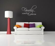 Always And Forever Family Vinyl Wall Decal-Removable Wall Art Sticker