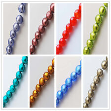 Pretty Lampwrok Glass Siler Foil Inside Beads Spacer Jewelry Making 14mm Charms