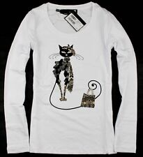 Love 19654 Lady's beads cat with diamond bag Moschino Top 3 Colors Sz S/M/L/XL