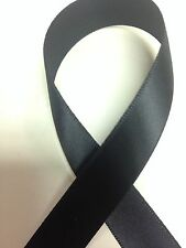 BLACK  Double Face/Sided DF Satin Ribbon - Select Spool Size - Schiff Ribbon