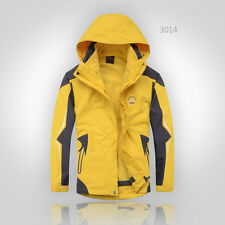 New Mens Waterproof 3 in 1 Raincoat Rainwear Hooded Coat Jacket Free postage