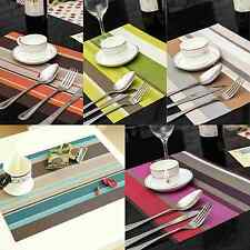 1Pcs PVC Waterproof Placemats Insulation Mat Table Coasters Kitchen Bar Tool NEW