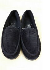 House Shoes Men`s Black Corduroy Indoor Outdoor Slip-On KK-001  Sz 5-12