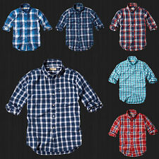 NWT HOLLISTER By Abercrombie Men Boneyard Beach Classic Plaid Shirt  All Size