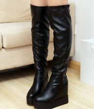 Female winter boots flat within the higher boots knee high boots stretch boots