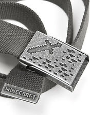 New Officially Licensed Minecraft Ironsword Belt Charcoal Gray Small/Medium Size
