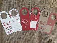 Vintage Christmas Present Wine Bottle Shabby Chic Xmas Gift Tags East of India