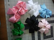 4 inch Solid Bows Handmade Exchangeable BOWS for Carols Crate Cover Dog Items