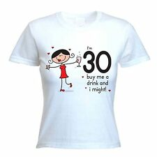 BUY ME A DRINK 30TH BIRTHDAY T-SHIRT - Gift Present Party -Size S to XL