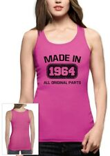 Made in 1964 Women Tank Top 50th Birthday Gift Idea Present Original Parts Old