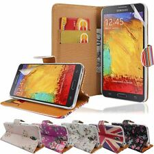 For Samsung Galaxy Note 3 Neo N7505 Printed Wallet Flip Stand Case Cover+Film
