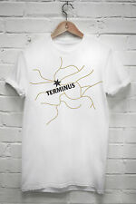 Terminus T-shirt The Walking Dead Daryl Dixon Zombies Map Comic TV Tshirt G49