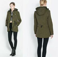 ZARA 2 in 1 Quilted Sleeve Detachable Lining & Hood Parka Jacket Coat 9394/240
