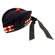 NEW Wool Scottish Diced Glengarry Hat with Torrie Sizes 7,  7 1/4,  7 1/2, 7 3/4