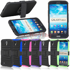 Rugged Hybrid Hard Case Cover+Belt Clip Holster Stand For Samsung Galaxy Mega6.3