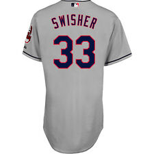 Majestic Athletic Cleveland Indians Nick Swisher Auth Big & Tall Road Jersey