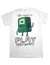 ADVENTURE TIME with Finn & Jake:BMO-Who Wants to Play Video Games? T-Shirt S-2XL