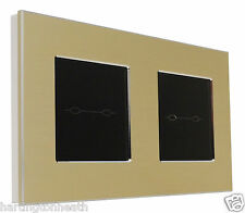 I LumoS Onyx Edition Aluminium 2, 3, 4, 5, 6 Gang Remote Touch Light Switches
