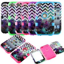 For iPod Touch 4 4th Gen New Hard & Soft Hybrid Impact Rubber Matte Case Cover