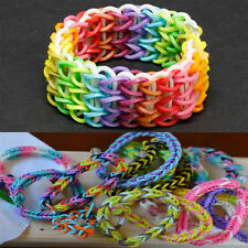 NEW COLOURFUL RAINBOW LOOM RUBBER BANDS BRACELET MAKING KIT