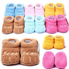 Newly newborn Soft Sole Cotton Baby Skid-proof Indoor Warm Sock Shoes Booties
