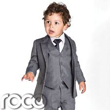 Baby boys grey slim fit suits, boys grey suit, boys Page boy Outfit