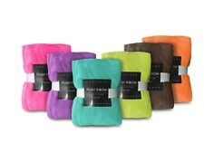 Plush Fleece Throw Blanket: Bright Colors, Super Soft, 50in x 60in