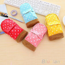 Lovely Cute Mini School Bag Pen Case Students Canvas Pencil Case Cosmetic Bag