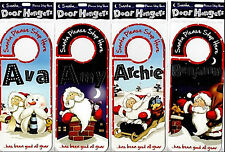 Christmas Snowy Night Door Hanger, Santa Wish List, Names J to O SALE PRICE