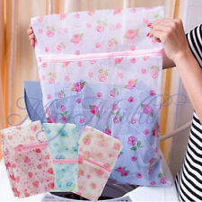 Floral Clothes Bra Underwear Socks Zipper Washing Laundry Bag Mesh ProtectiveM