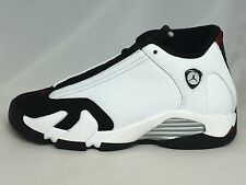 "AIR JORDAN 14 RETRO BOYS (BG) STYLE #654963 102 WHITE/BLK/RED/SILVER ""SHIPS NOW"""