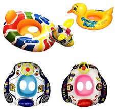 Kids Baby Inflatable Pool Swim Float Boat Ring Seat Swimming Aid with Wheel Horn