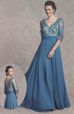 2 COLORS Mother  Of Bride/Groom LONG DRESS HOMECOMING EVENING FORMAL PROM S-3XL