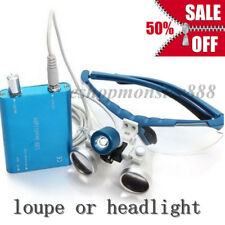 CE Dental Medical Surgical Optical Binocular Loupes Glasses / LED Headlight Lamp