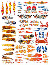 1: 24 1:18 FLAME DECALS FOR DIECAST & MODEL CARS & DIORAMAS