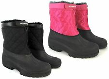 LADIES WOMANS SNOW BOOTS WATERPROOF MUCKER THERMAL WELLINGTONS FUR SKI WINTER